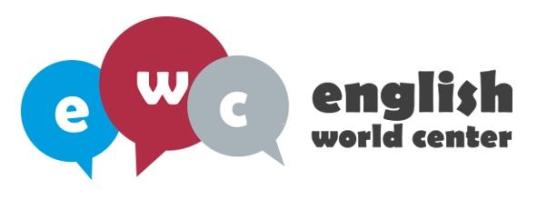 Plataforma Moodle ENGLISH WORLD